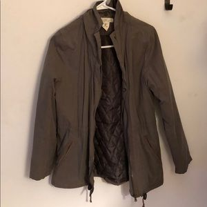 Green h&m jacket